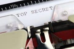 Bovenkant - geheim stock fotografie