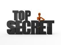 Bovenkant - geheim Royalty-vrije Stock Afbeelding