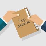 Bovenkant - geheim concept royalty-vrije illustratie