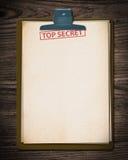 Bovenkant - geheim document. Royalty-vrije Stock Afbeeldingen