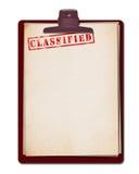 Bovenkant - geheim Document Stock Afbeelding
