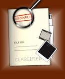 Bovenkant - geheim Dossier stock illustratie
