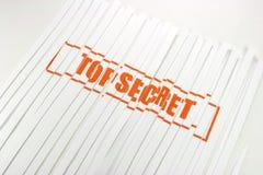 Bovenkant - geheim verscheurd document Stock Fotografie