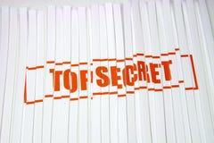 Bovenkant - geheim verscheurd document Stock Afbeeldingen