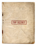 Bovenkant - geheime Dossiers Stock Foto