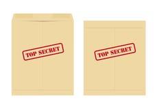 Bovenkant - geheime envelop Royalty-vrije Stock Foto