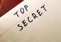 Bovenkant - geheime informatie Stock Fotografie