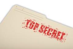 Bovenkant - geheime informatie Royalty-vrije Stock Foto's