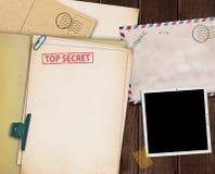 Bovenkant - geheime omslag Stock Afbeeldingen