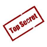 bovenkant - geheime Rubberinktzegel Stock Afbeelding