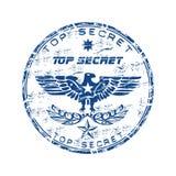 Bovenkant - geheime rubberzegel Stock Afbeeldingen