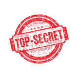 Bovenkant - geheime rubberzegel Royalty-vrije Stock Afbeelding