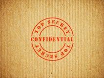 Bovenkant - geheime Vertrouwelijke doos Stock Afbeeldingen