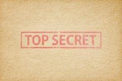 Bovenkant - geheime zegel op het pakpapier royalty-vrije stock fotografie