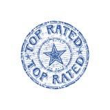 Bovenkant geschatte rubberzegel Royalty-vrije Stock Foto