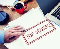 Bovenkant - het geheime Concept van de Privacy Vertrouwelijke Geclassificeerde Zegel royalty-vrije stock foto's