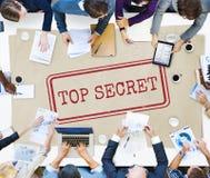 Bovenkant - het geheime Concept van de Privacy Vertrouwelijke Geclassificeerde Zegel royalty-vrije stock foto