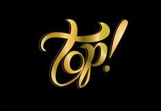 bovenkant lettering Het Inspirational schrijven verkoop kortingen gouden Vector vector illustratie
