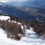 Bovenkant van bergen Stock Foto