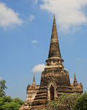 Bovenkant van Boeddhistische tempels in Ayuthaya, Thailand Stock Afbeeldingen