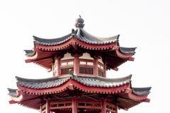 Bovenkant van Chinese Pagode Stock Fotografie