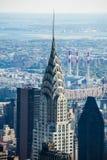 Bovenkant van Chrysler-wolkenkrabber Manhattan New York royalty-vrije stock fotografie