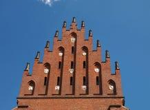 Bovenkant van de Basiliek van de Heilige Drievuldigheid in Krakau, Polen Stock Fotografie