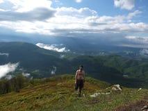 Bovenkant van de berg Stock Foto's