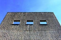 Bovenkant van de controlekamer van de verlaten gateway Royalty-vrije Stock Foto's