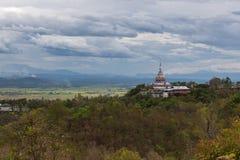 Bovenkant van de helder gekleurde pagodemening binnen stock afbeeldingen