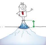 Bovenkant van de ijsberg Royalty-vrije Stock Afbeeldingen