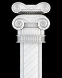 Bovenkant van de kolom op een zwarte achtergrond 3d geef image Stock Afbeeldingen