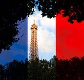 Bovenkant van de toren van Eiffel. Stock Foto