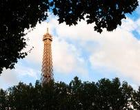 Bovenkant van de toren van Eiffel. Stock Afbeelding