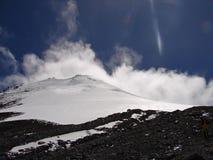 Bovenkant van de vulkaan Orizaba (Citlaltépetl), Royalty-vrije Stock Fotografie