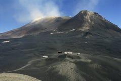 Bovenkant van de vulkaan van Etna Royalty-vrije Stock Foto's