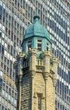 Bovenkant van de Watertoren, Chicago, Illinois Stock Afbeelding