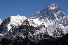 Bovenkant van de wereld Everest 8848 Stock Fotografie