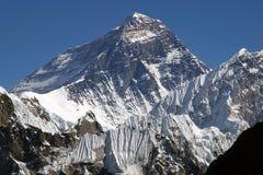 Bovenkant van de wereld Everest 8848 Stock Afbeeldingen