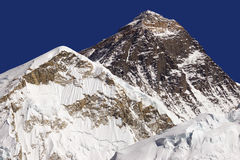 Bovenkant van de wereld Everest 8848 Stock Afbeelding