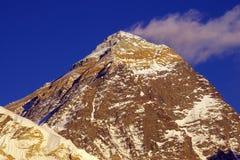 Bovenkant van de wereld Everest 8848m Stock Fotografie