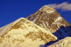 Bovenkant van de wereld Everest 8848m van Kalapattar Stock Foto