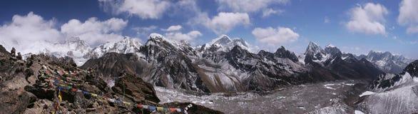 Bovenkant van de Wereld in Himalayagebergte, Nepal royalty-vrije stock afbeelding