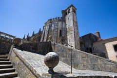 Bovenkant van Dom Joao III het meesterwerk van de Kloosterrenaissance in het Templar-Klooster van Christus in Tomar, Portugal Une stock fotografie