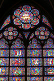 Bovenkant van een kathedraalvenster Stock Afbeelding