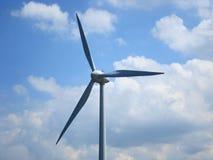 Bovenkant van een windmolen stock foto