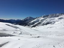 Bovenkant van Europa Jungfraujoch royalty-vrije stock foto's