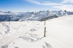 Bovenkant van Frontalpstock in de Zwitserse Alpen Stock Foto's