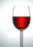 Bovenkant van glas rode wijn Stock Afbeelding