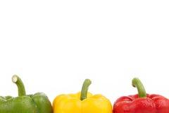 Bovenkant van Groene paprika's Stock Foto's